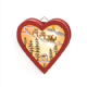 LED Hanging Christmas Decoration Available in Wooden Heart or Star.